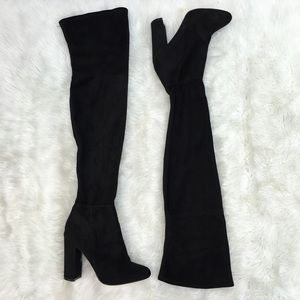 ALDO Faux Suede Over The Knee Stretch Boots 8.5